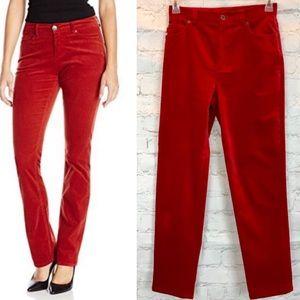 Lauren red velvet pants